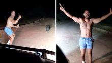 Surprising excuse for cop's behaviour in shocking wombat stoning video