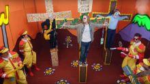 Macaulay Culkin appears as a crucified Kurt Cobain in bizarre music video