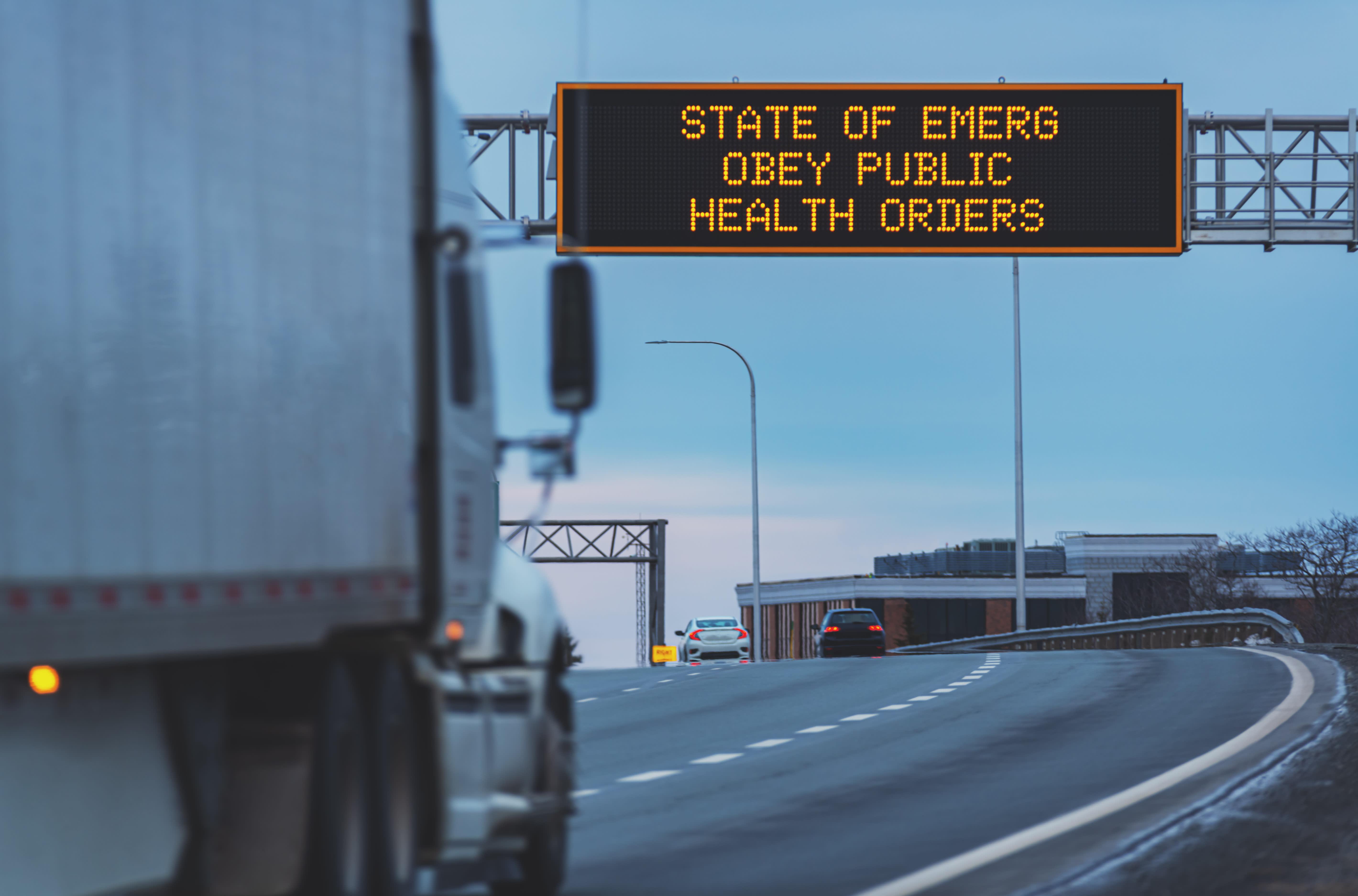Veteran trucker describes 'chaos' after coronavirus