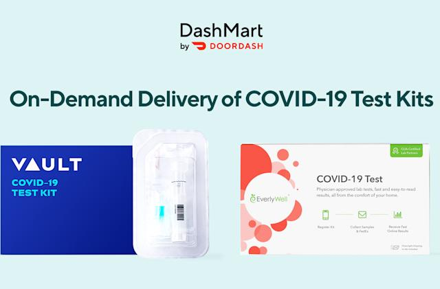 DoorDash now delivers COVID-19 testing kits