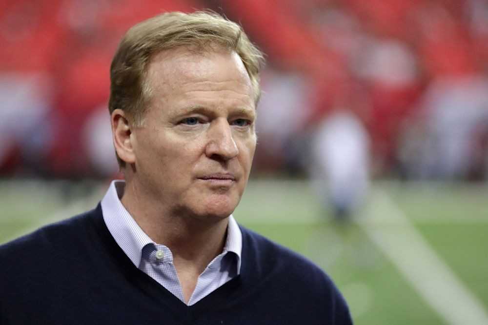 Roger Goodell remains a person of interest in Colin Kaepernick's grievance case against the NFL. (Getty Images)