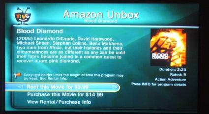 """TiVo's new """"Buy on TV"""" feature for Amazon Unbox"""