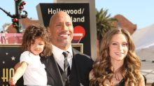 "Dwayne ""The Rock"" Johnson's Daughter Is Too Cute at His Hollywood Walk of Fame Ceremony"