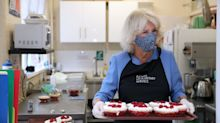 Duchess of Cornwall reveals hidden skill in the kitchen as she gets stuck in with a lunch club