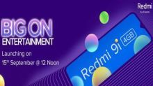Redmi 9i with 4 GB RAM, waterdrop notch display to launch in India on 15 September