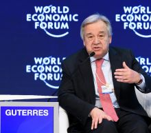 New UN chief at Davos seeks allies in business