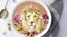 Woman makes amazing masterpieces out of smoothies