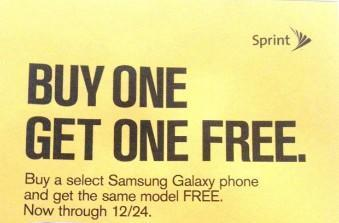 Leaked Sprint holiday ad outs BOGO offer on a trio of Samsung Galaxy smartphones