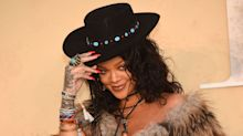 Rihanna Schools Us in How to Wear Turquoise Jewelry: Pile It On