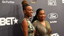#MeToo founder steals the show in gold gown at the Black Girls Rock awards