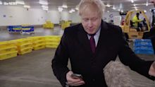 Boris Johnson Grabs Reporter's Phone In Bizarre Interview About Sick Boy Sleeping On A&E Floor