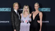 Bombshell trio Charlize Theron, Margot Robbie and Nicole Kidman hit the red carpet at the film's LA premiere