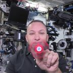 Watch a fidget spinner in the weightless environment of the space station