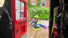 In pictures: Chaos as Britain is hit by flash flooding after record rainfall