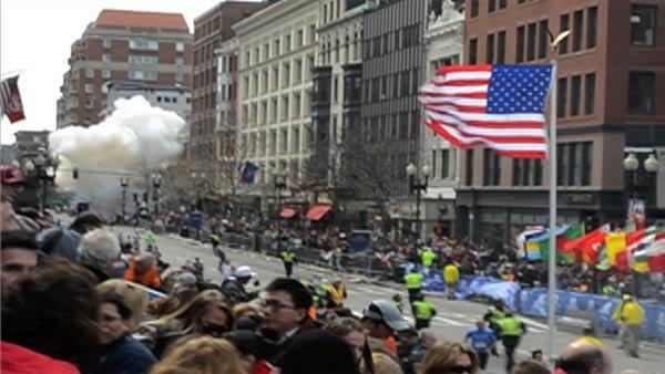 2nd Boston Marathon explosion captured on video