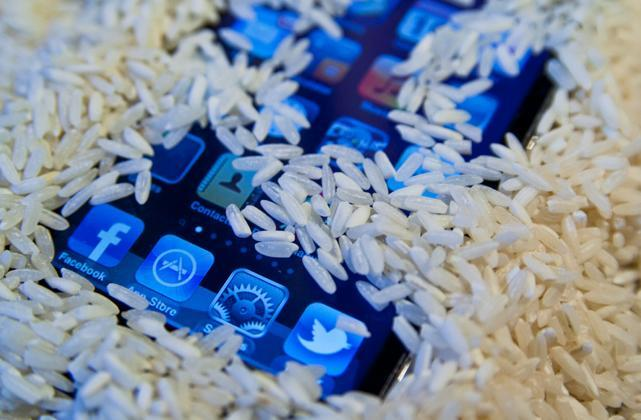 How not to use rice to save your iPhone