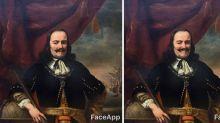 笑一笑,世界更美妙  當嚴肅博物館油畫遇上Face App…