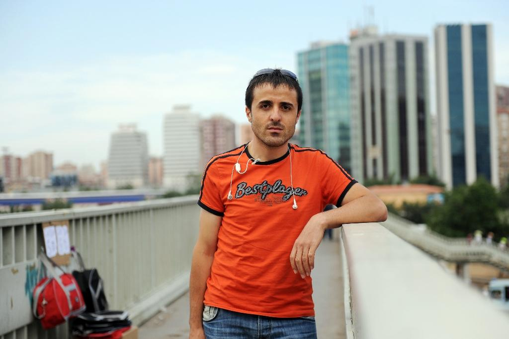 Turkish football referee Halil Ibrahim Dincdag, pictured in 2009 after he came out as a homosexual in a television broadcast (AFP Photo/Bulent Kilic)