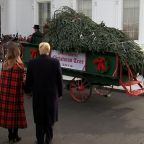 Trumps receive 2018 White House Christmas tree