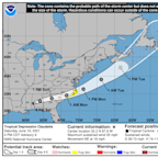 Tropical Storm Claudette weakens to depression. It may strengthen back to storm status