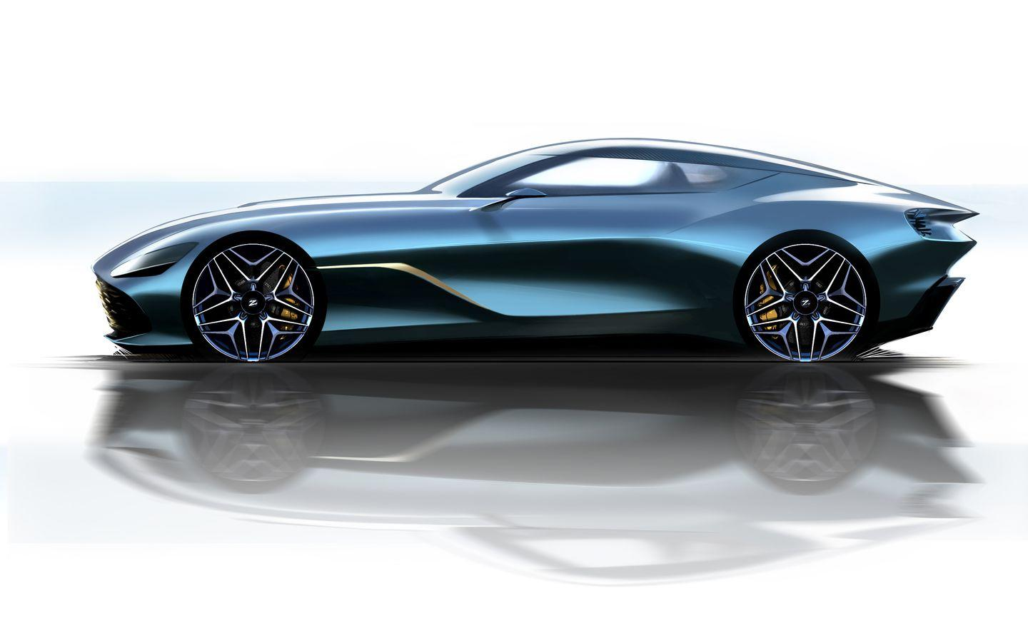 """<p>The design of the round vortex rear lights also seems to have been inspired by those of the last Zagato collaboration, the various Z versions of the <a href=""""https://www.caranddriver.com/news/a23285641/aston-martin-zagato-specials/"""" rel=""""nofollow noopener"""" target=""""_blank"""" data-ylk=""""slk:Vanquish"""" class=""""link rapid-noclick-resp"""">Vanquish</a>.</p>"""