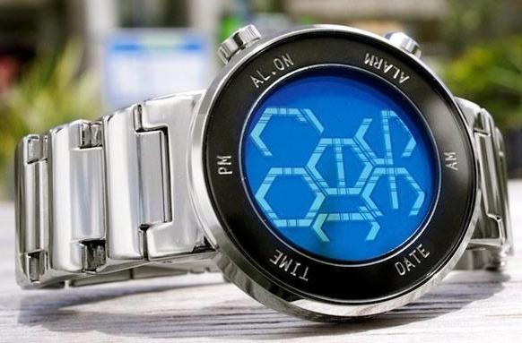 Tokyoflash Kisai Zone watch tells time in hexagons