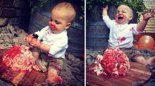 Mum's horrifying cake smash is a total hit