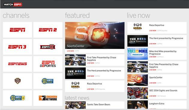WatchESPN sports streaming arrives on Windows Phone