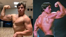 Joseph Baena looks just like dad Arnold Schwarzenegger in new gym photo: 'The resemblance is uncanny'