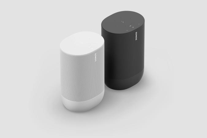 Sonos Move Shadow Black and Lunar White