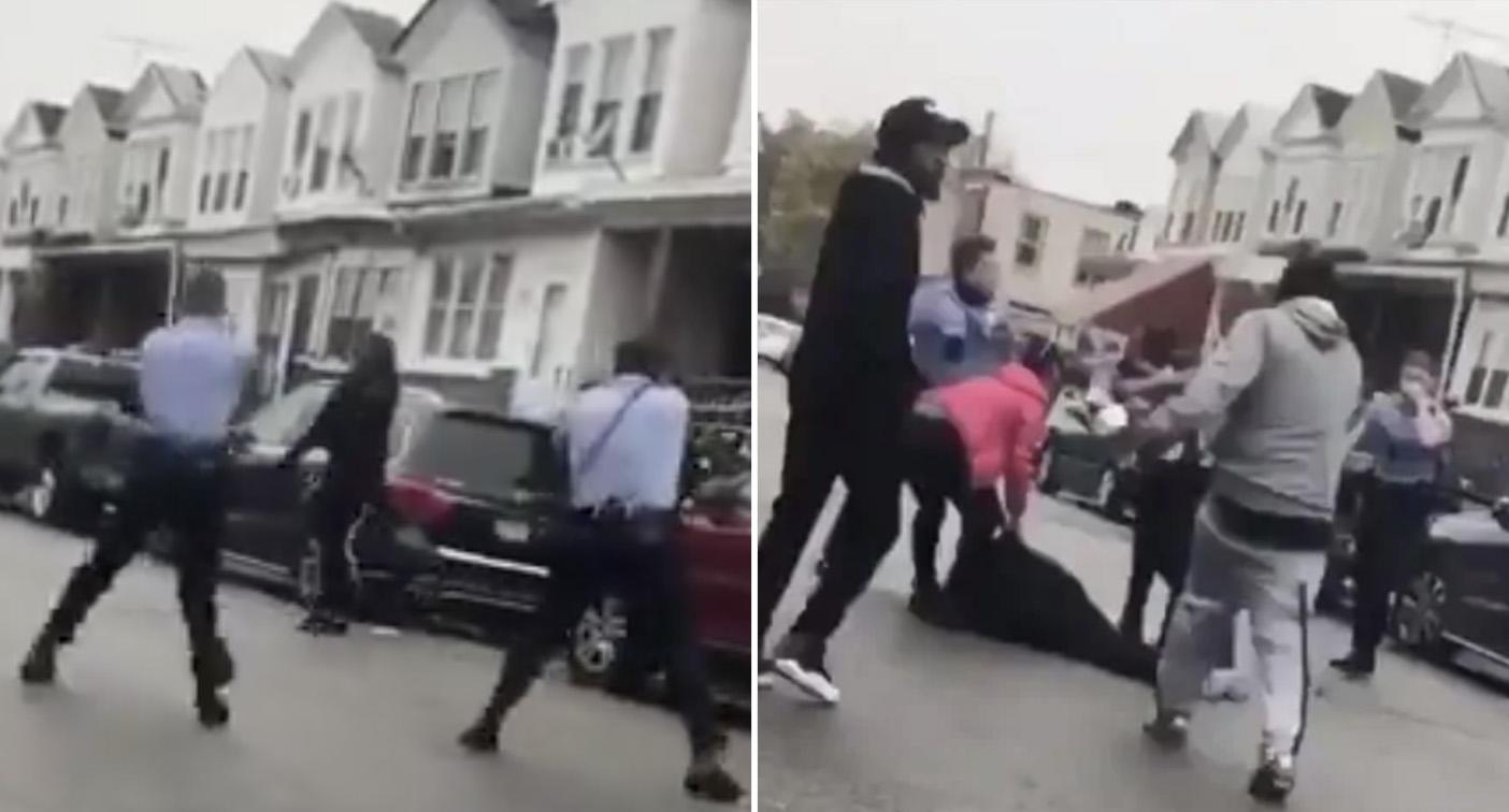 Horrific moment man shot 10 times in front of his family by Philadelphia police – Yahoo News Australia