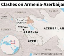 12 people dead in fighting on Armenia-Azerbaijan border