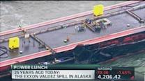 Large scale oil spill at Port of Galveston