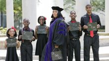Mother of 5 proudly poses with children in law school graduation photos: 'We did it'