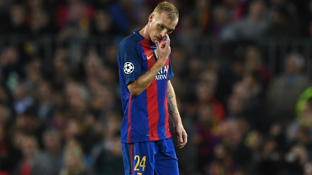 Mathieu axed from Barcelona squad for visit of Juventus
