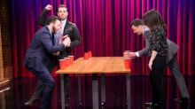 Jimmy Fallon and Chris Evans Play Flip Cup With Their Siblings