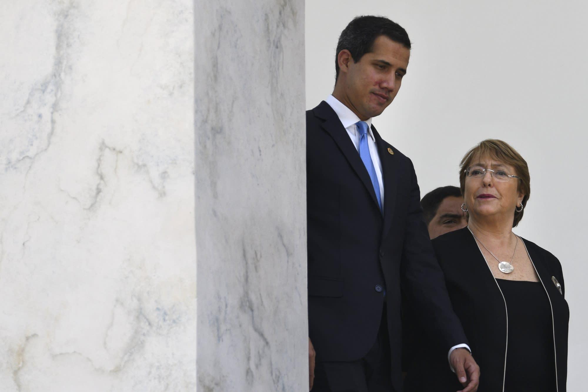 Protests Erupt in Caracas During Venezuela Visit by UN's Bachelet