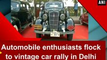 Automobile enthusiasts flock to vintage car rally in Delhi