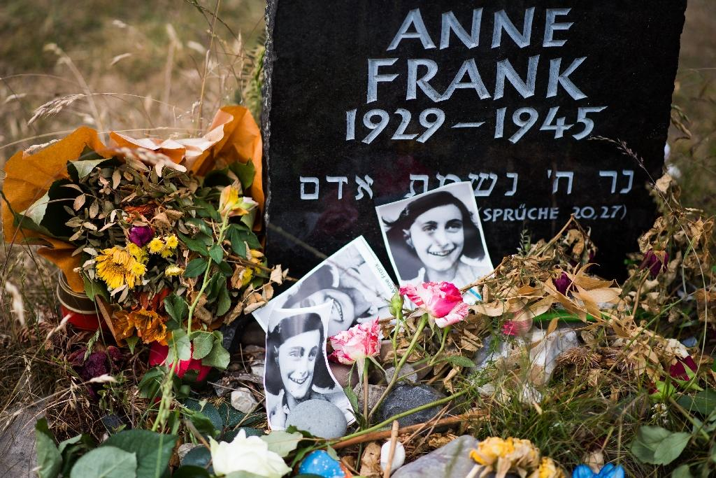 Anne Frank died in Germany's Bergen-Belsen concentration camp early in 1945, aged 15, less than a year after the Nazis found her and her family members (AFP Photo/NIGEL TREBLIN)