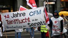 Warnstreik: Mitarbeiter der Charité-Tochter CFM streiken für Tariflöhne