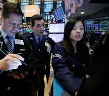 Stocks rise, Treasury yields edge down slightly