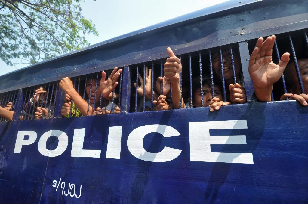 Myanmar arrested scores of activists in a 2015 crackdown on student-led protests (AFP Photo/Soe Than Win)