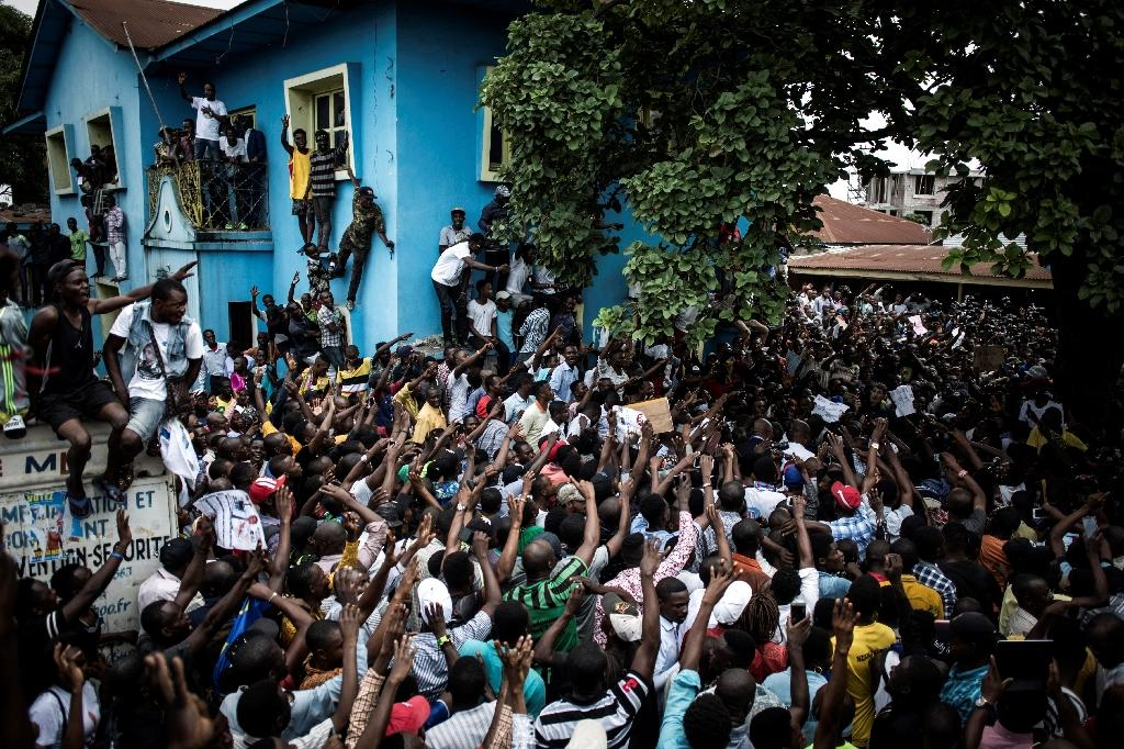 The announcement of Felix Tshisekedi's purported victory in DRC's presidential elections brought Fayulu supporters onto the streets in protest in Kinshasa and elsewhere (AFP Photo/John WESSELS)