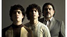 ¡Igualitos! Mira las primeras imágenes de los tres actores que interpretarán a Maradona