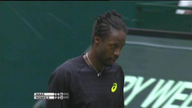 Halle - Haas stoppe Monfils
