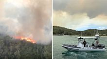 'LEAVE IMMEDIATELY': Dire warning to residents as bushfire rages