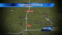 Buildings destroyed in reported tornado