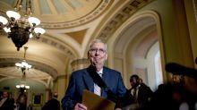 Gun legislation stalls as congressional leaders trade barbs