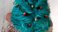 Trança 'Árvore de Natal' é o penteado perfeito para este fim de ano