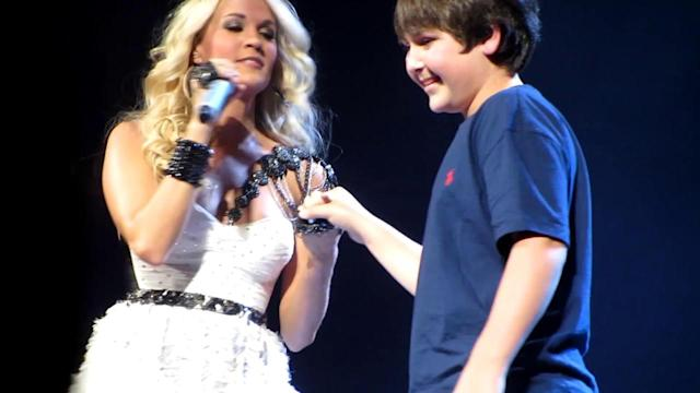 Carrie Underwood Kisses One Lucky Kid